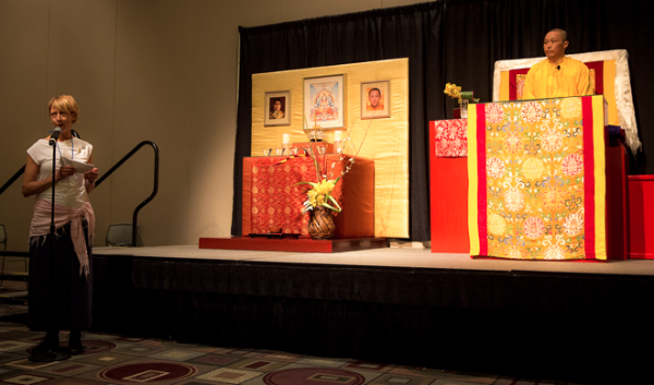 director of shambhala with Sakyong Mipham Rinpoche in Pasadena